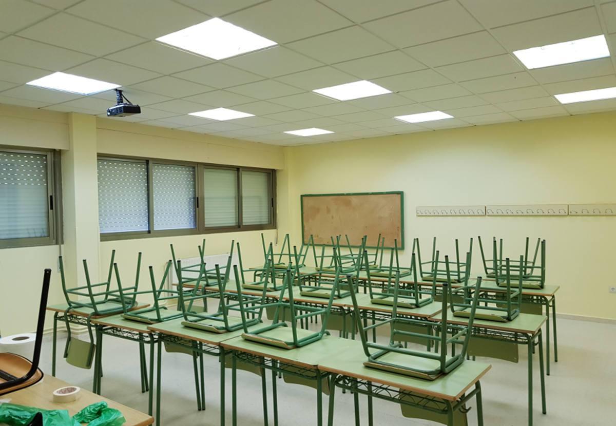iluminación aula centro