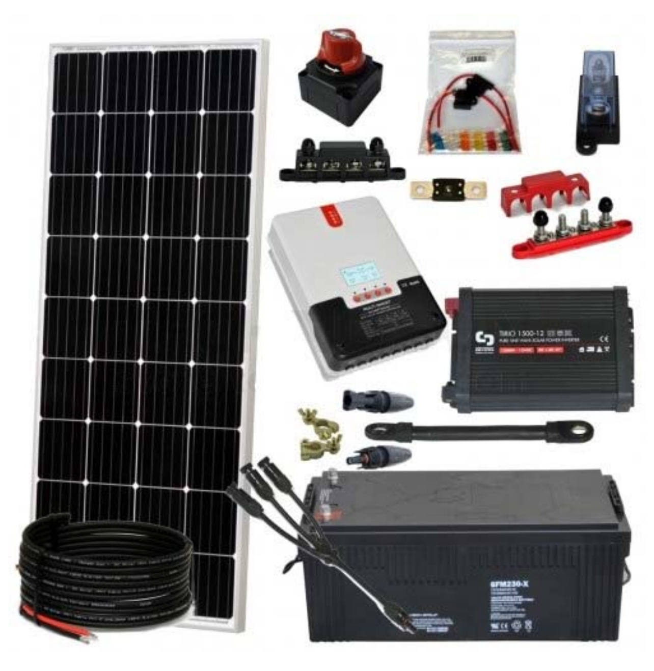 kit aislada solarpack 1500w 12v